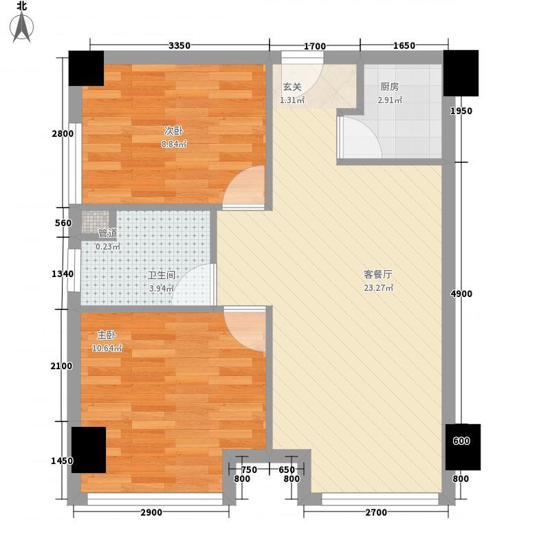 浅水湾城市花园户型2室1厅1卫1厨