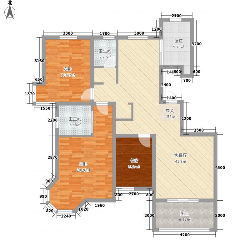 地税局家属楼73户型3室2厅2卫1厨