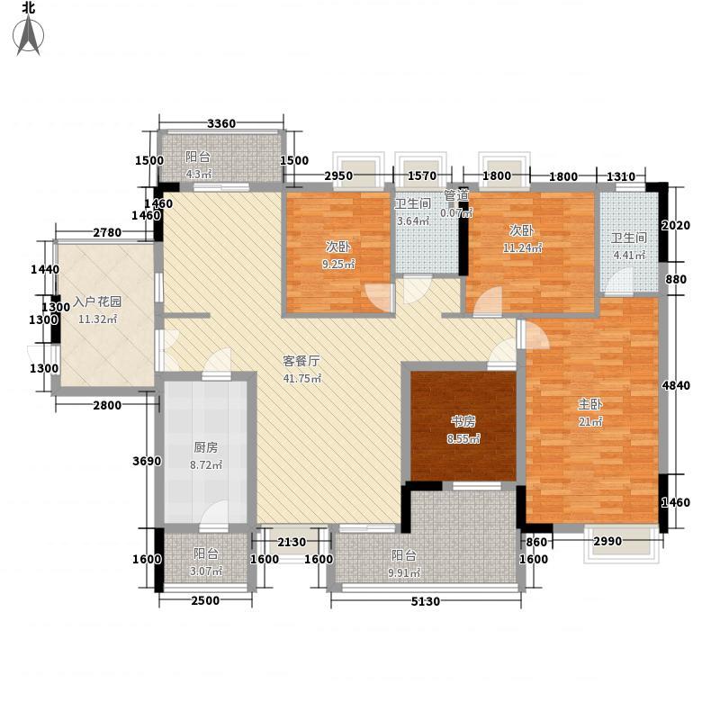 领地海纳天河花园157.00㎡领地海纳天河花园户型图10栋01单位、11栋03单位4室2厅2卫1厨户型4室2厅2卫1厨