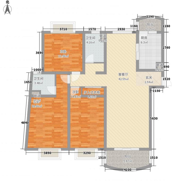 河风丽景二期160.33㎡河风丽景二期户型图3室2厅2卫1厨户型10室