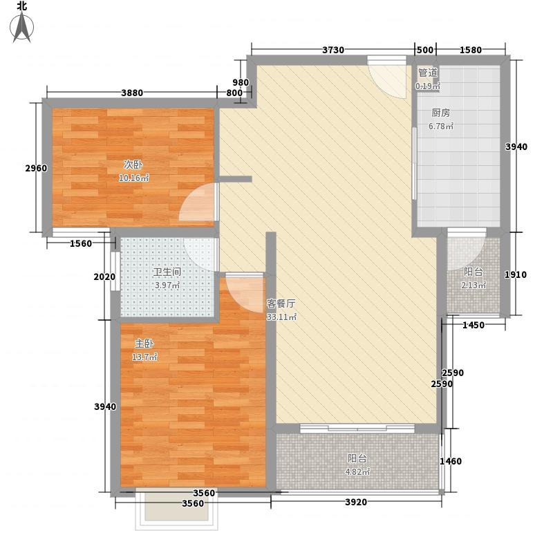 逸流公寓二期105.44㎡逸流公寓二期户型图户型A2室2厅1卫1厨户型2室2厅1卫1厨