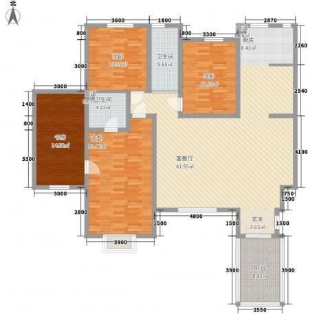 一品苑4室1厅2卫0厨152.00㎡户型图
