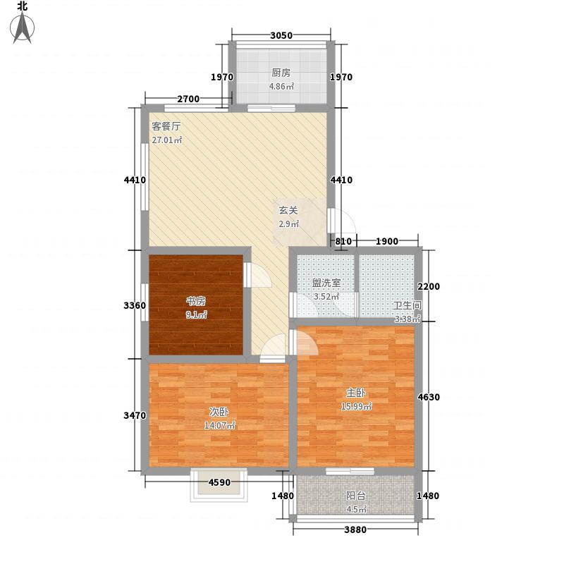 香山庭院118.00㎡六户型3室1厅1卫1厨