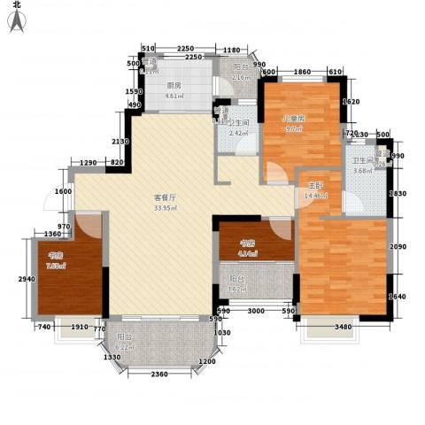 福鼎碧桂园4室1厅2卫1厨133.00㎡户型图