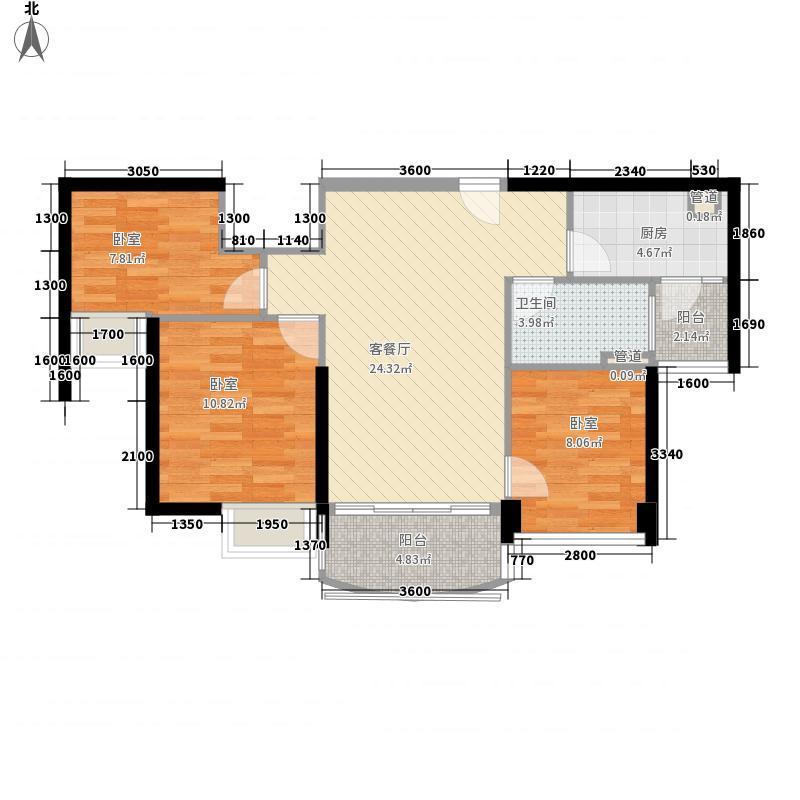 福鼎碧桂园J582-B户型3室2厅1卫