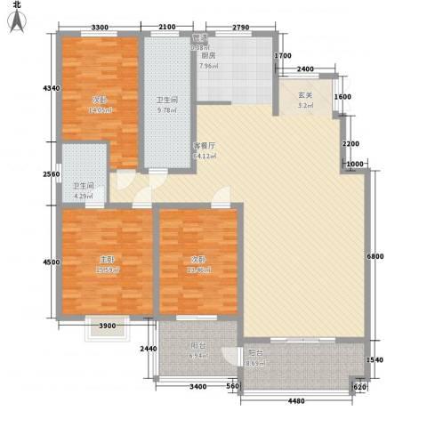 一品苑3室1厅2卫0厨168.00㎡户型图