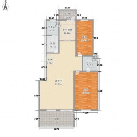 金东城雅居2室1厅2卫1厨262.00㎡户型图
