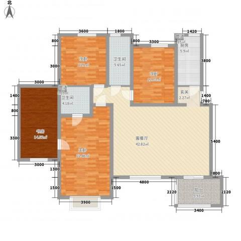 一品苑4室1厅2卫1厨154.00㎡户型图