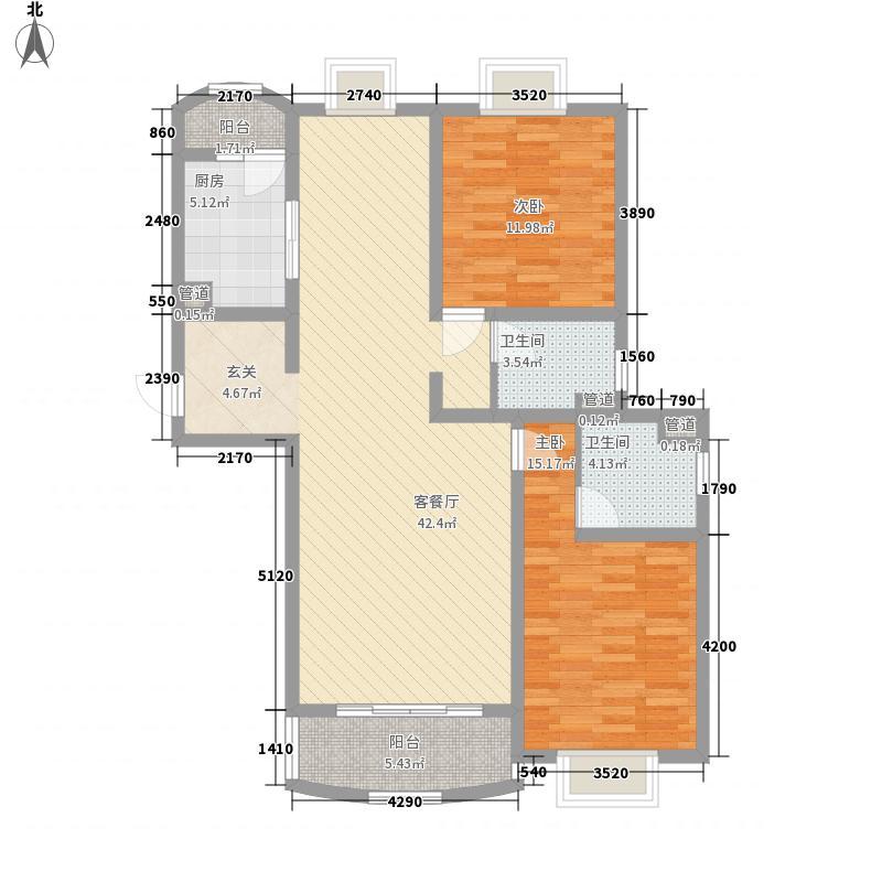 河风丽景二期130.92㎡河风丽景二期户型图G型2室2厅1卫1厨户型2室2厅1卫1厨