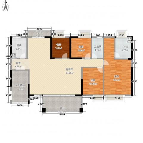 黄旗山1号4室1厅2卫1厨187.00㎡户型图