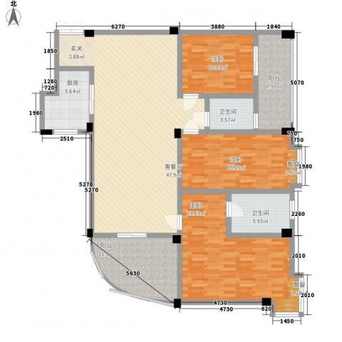 富德居3室1厅2卫1厨188.00㎡户型图