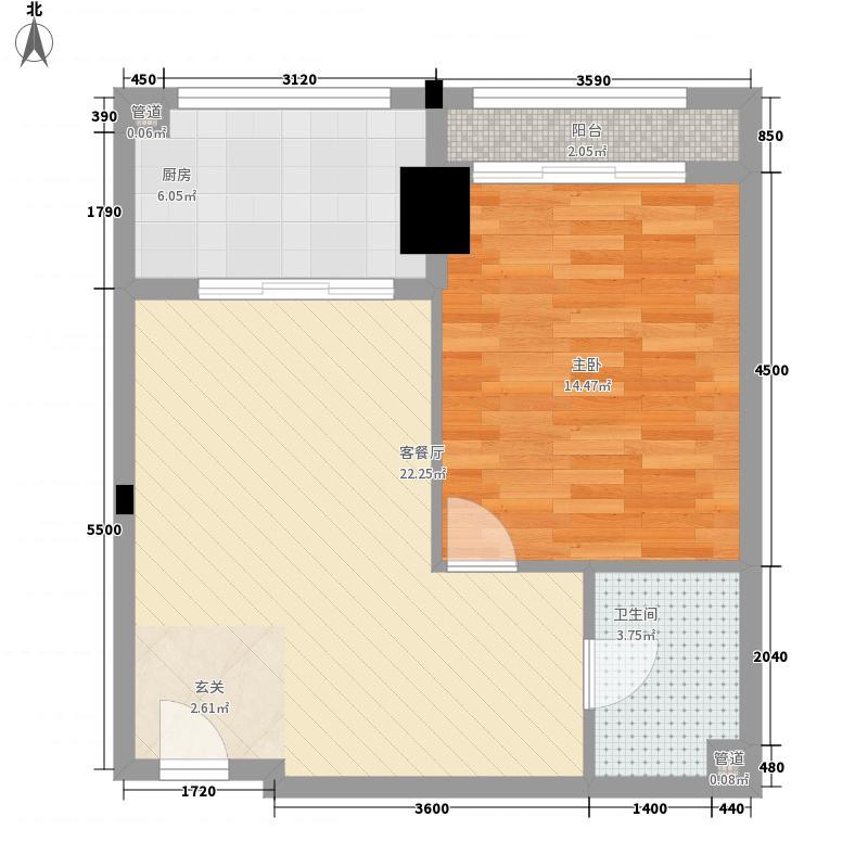 综艺曼哈顿时代79.32㎡综艺曼哈顿时代1室户型1室