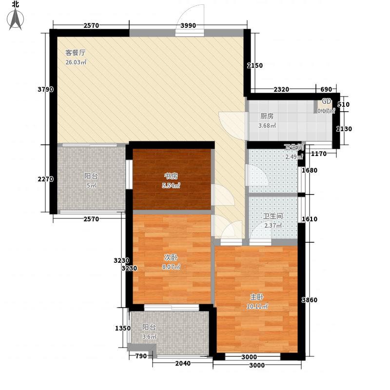 阳光城・山与海7.00㎡C-户型3室2厅2卫1厨