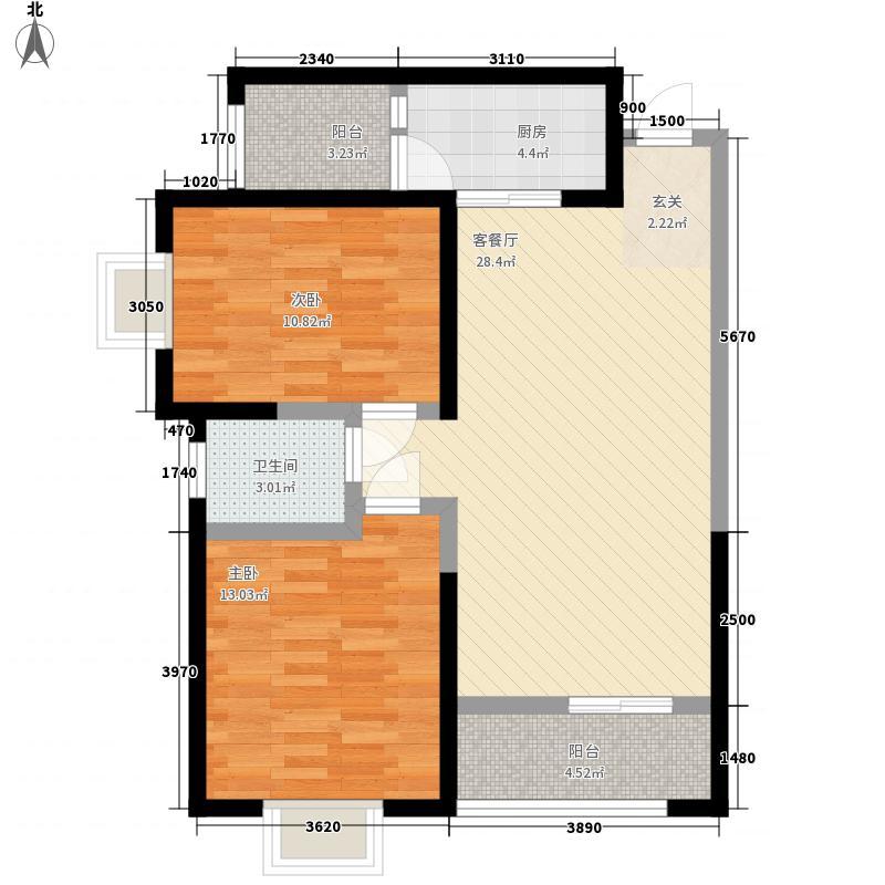 省政府家属院F户型:两房两厅一卫,98.73平米_调整大小户型2室2厅1卫1厨