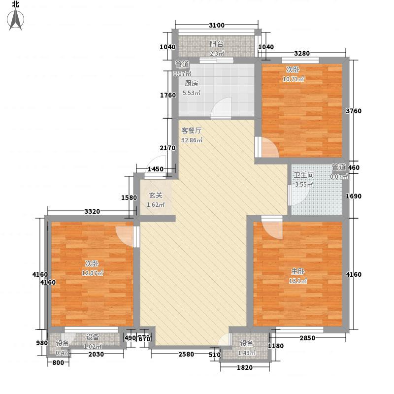 东方玫瑰园108.00㎡东方玫瑰园户型图3室2厅1卫户型10室