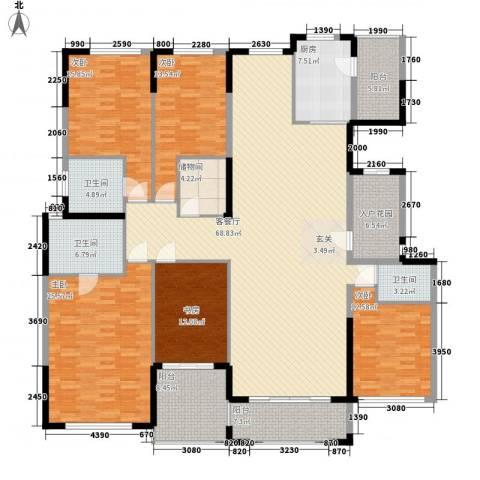 金海岸名邸5室1厅3卫1厨282.00㎡户型图