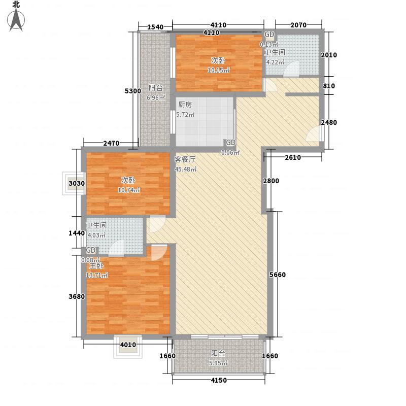世纪宝鼎152.82㎡户型图_8户型3室2厅2卫1厨