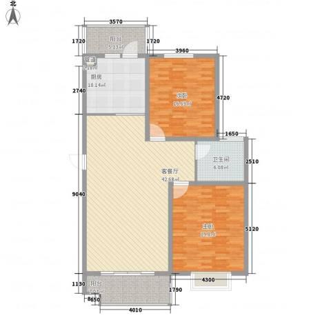 南城亲水佳苑2室1厅1卫1厨150.00㎡户型图