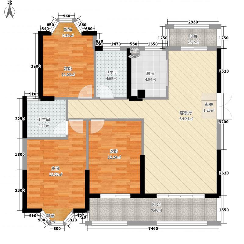 三盛托斯卡纳小区123.00㎡三盛托斯卡纳小区3室户型3室