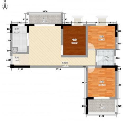 水映盛唐3室1厅1卫1厨102.00㎡户型图