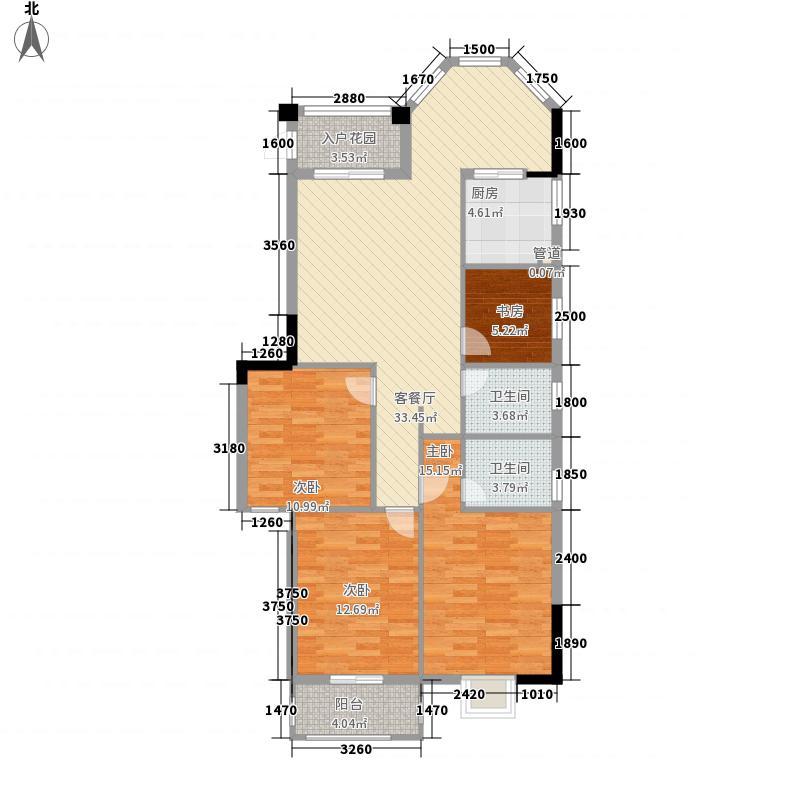 万豪臻品137.00㎡A户型4室2厅2卫1厨