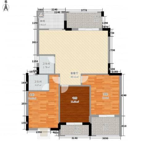 万豪臻品3室1厅2卫1厨127.00㎡户型图