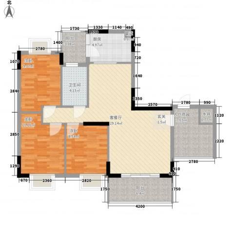 翠华花园二期3室1厅1卫1厨100.00㎡户型图