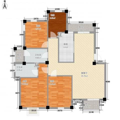 东裕新村4室1厅2卫1厨141.00㎡户型图