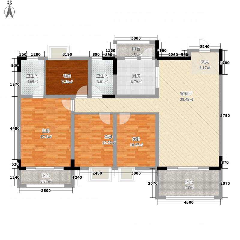 逸湖半岛139.68㎡逸湖半岛户型图B户型4室2厅2卫1厨户型4室2厅2卫1厨