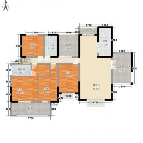 轻工设计院宿舍4室1厅2卫1厨200.00㎡户型图