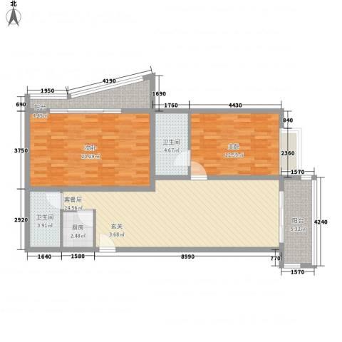 凤航大厦2室0厅2卫1厨126.00㎡户型图