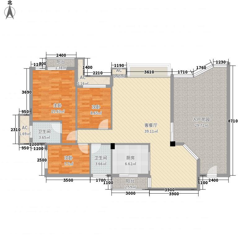 湖柏山庄94.00㎡湖柏山庄3室户型3室