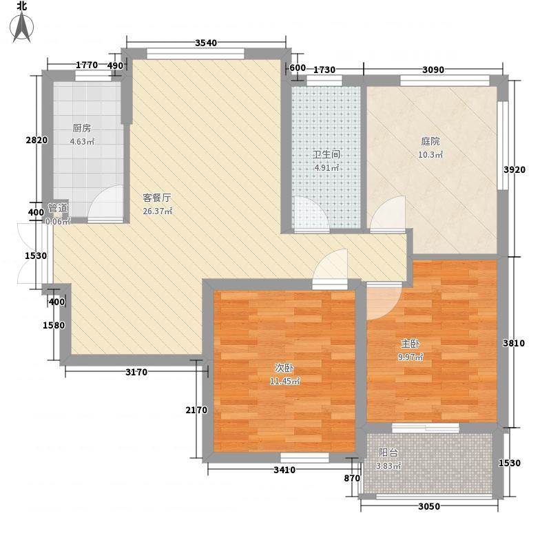 瑞龙花园89.00㎡瑞龙花园户型图14#A户型2室2厅1卫1厨户型2室2厅1卫1厨