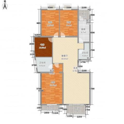 汾河外滩4室1厅2卫1厨196.00㎡户型图