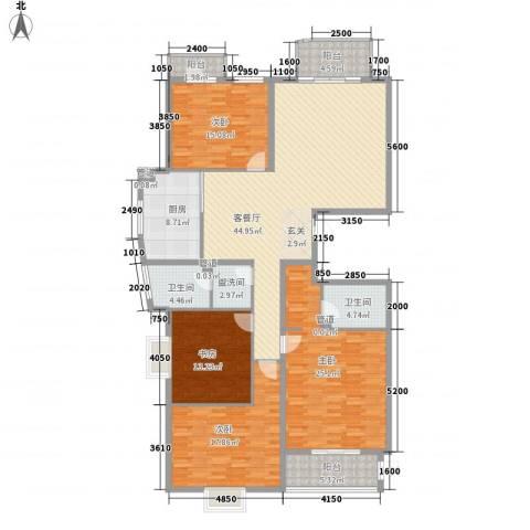 汾河外滩4室1厅2卫1厨208.00㎡户型图