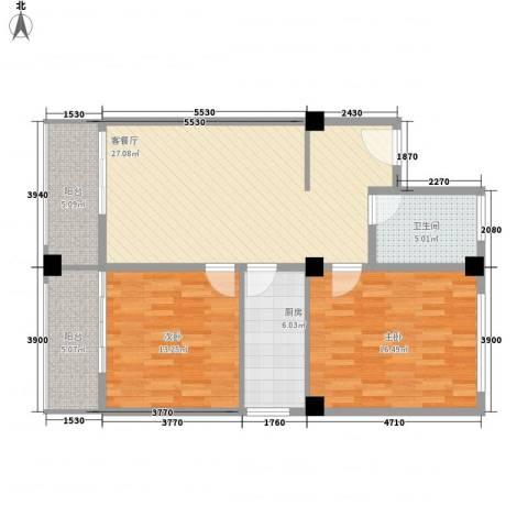 阅海观山・温泉度假村2室1厅1卫1厨111.00㎡户型图