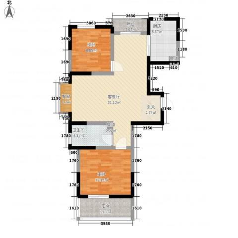 万邦・翰林郡2室1厅1卫1厨69.03㎡户型图