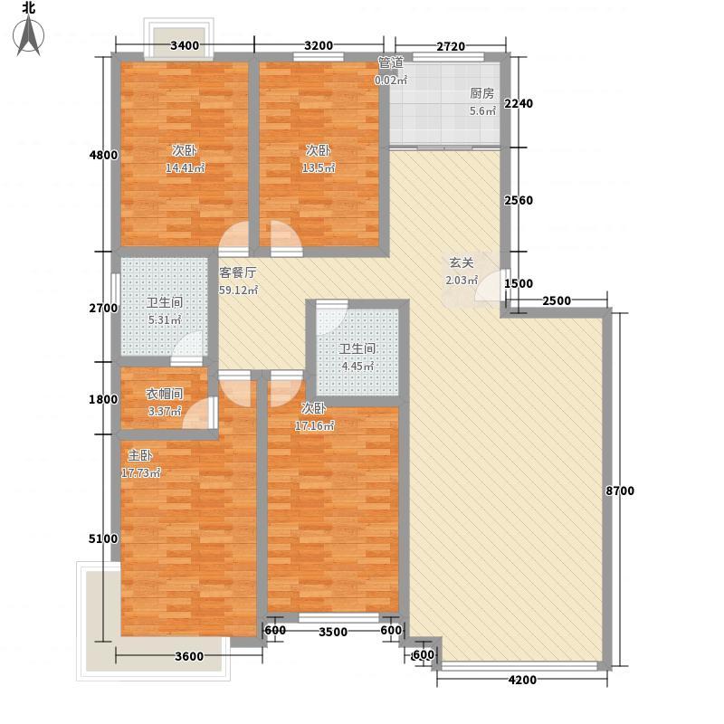 温哥华国际花园2.00㎡Q户型4室2厅2卫1厨