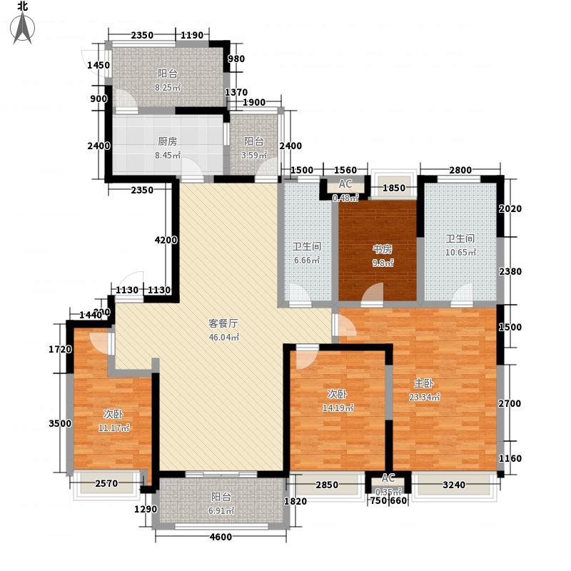 徽盐世纪广场181.00㎡一期B2户型4室2厅2卫1厨