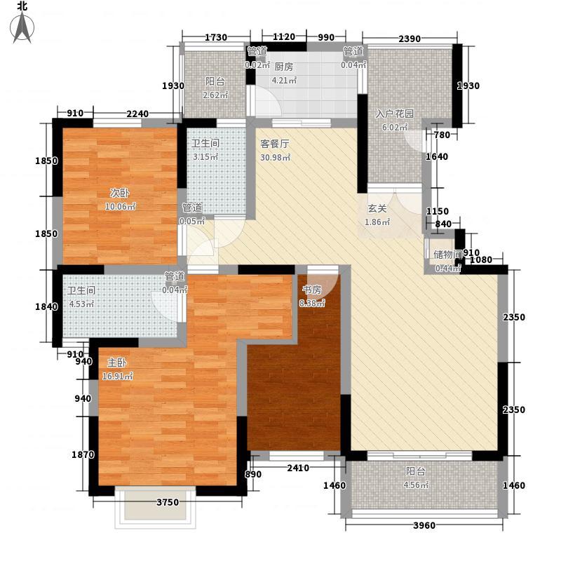万邦・翰林郡135.80㎡H户型3室2厅2卫1厨
