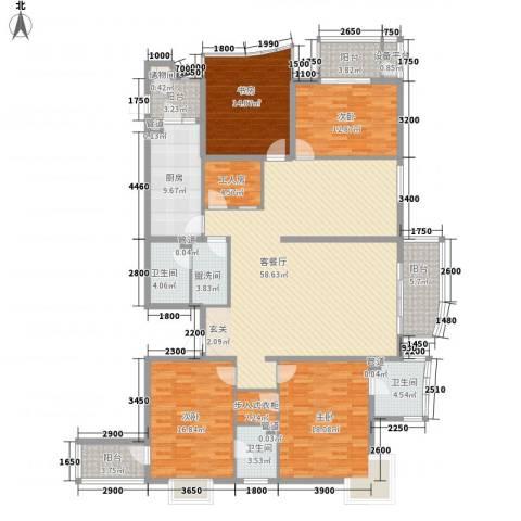 汾河外滩4室1厅3卫1厨240.00㎡户型图