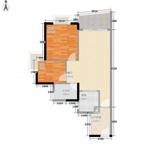 盛和新都会.2室1厅1卫1厨83.00㎡户型图