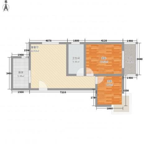 广星源2室1厅1卫1厨84.00㎡户型图