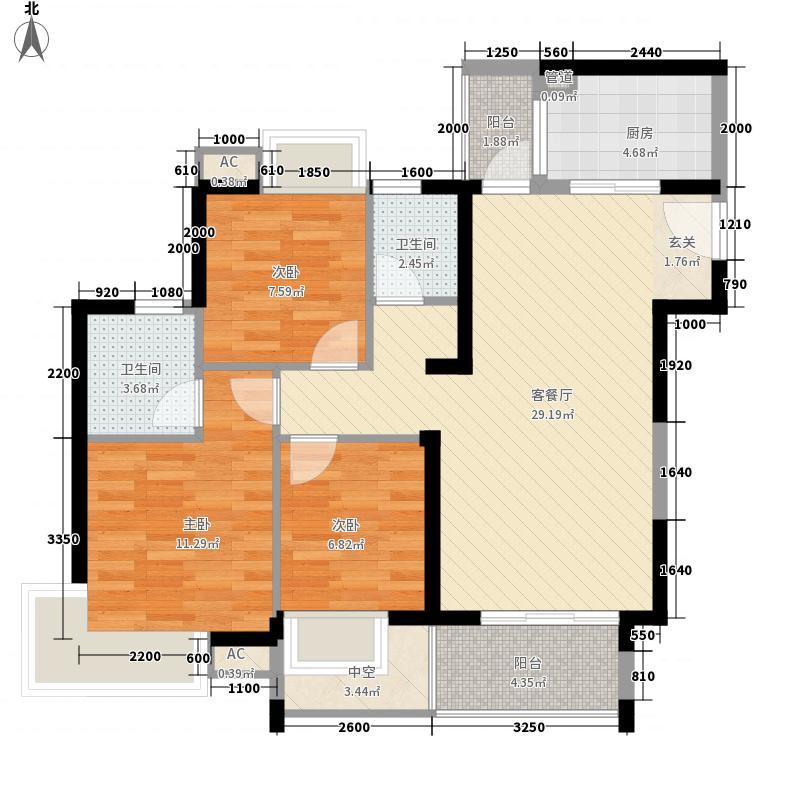 中熙香缇湾中熙香缇湾3室户型3室