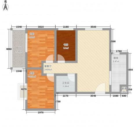广星源3室1厅1卫1厨65.28㎡户型图
