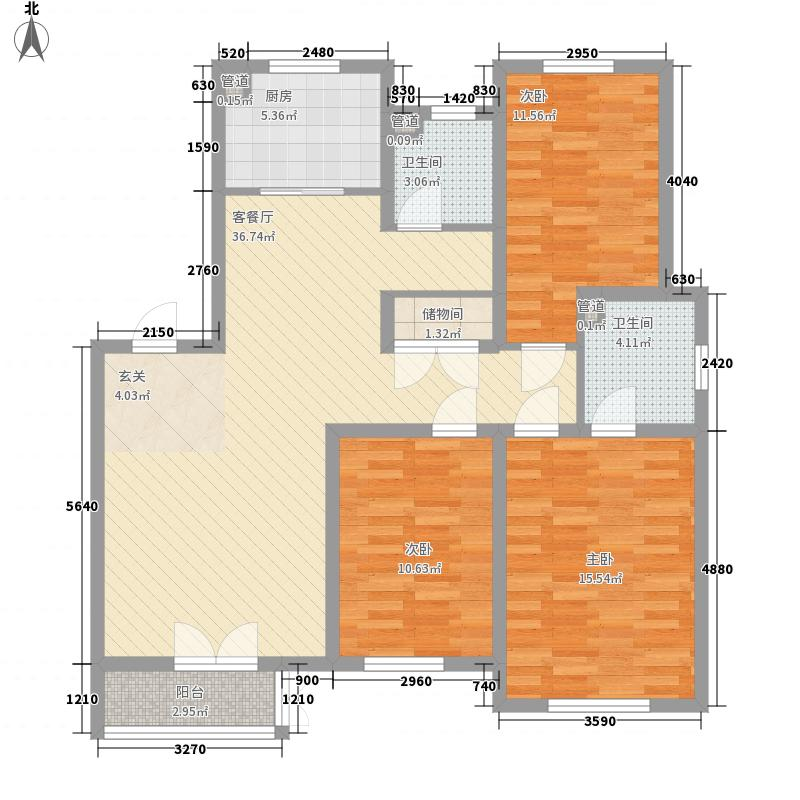 丽都景苑二期131.00㎡丽都景苑二期户型图5#、9#楼A户型3室2厅2卫户型3室2厅2卫
