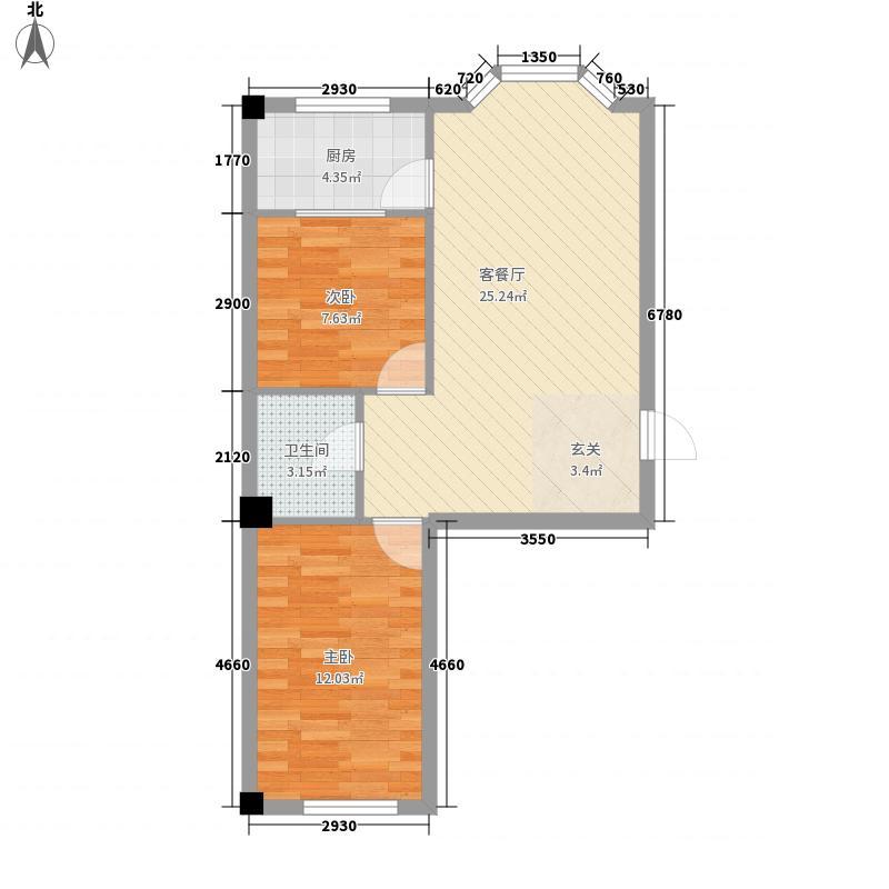 金园名城72.00㎡金园名城户型图1、2号楼2室2厅1卫1厨户型2室2厅1卫1厨