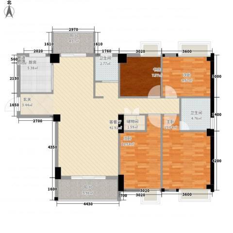 星河城市广场4室1厅2卫1厨157.00㎡户型图