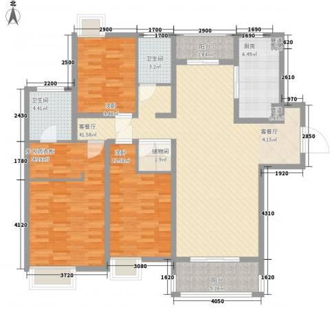 正龙豪园3室1厅2卫1厨320.00㎡户型图