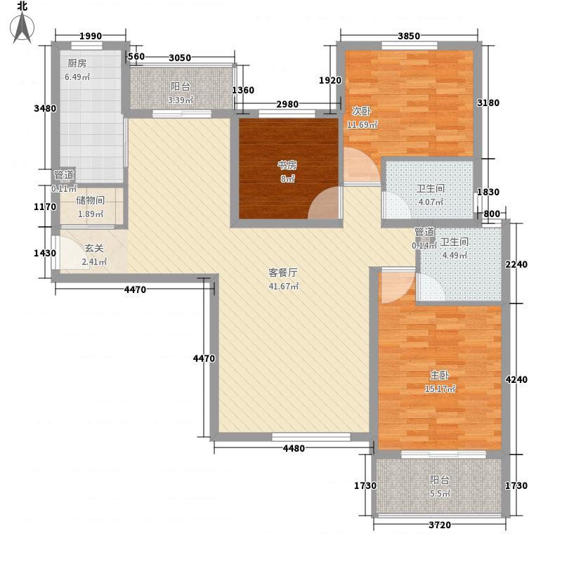 凯鹏国际大厦145.00㎡凯鹏国际大厦3室户型3室